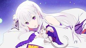 Rating: Safe Score: 144 Tags: animal cat dress emilia_(re:zero) long_hair puck purple_eyes re:zero_kara_hajimeru_isekai_seikatsu signed tagme_(artist) white_hair User: RyuZU