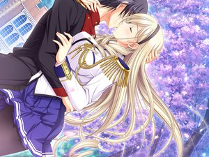 Rating: Safe Score: 56 Tags: celia_cumani_aintree game_cg kiss komori_kei male mizuno_takahiro ricotta walkure_romanze User: Maboroshi