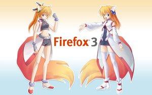 Rating: Safe Score: 78 Tags: animal_ears anthropomorphism firefox foxgirl tagme tail User: Tensa