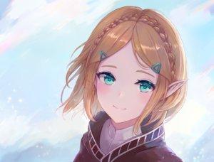 Rating: Safe Score: 133 Tags: blonde_hair braids close clouds green_eyes leonmandala pointed_ears princess_zelda short_hair sky the_legend_of_zelda User: otaku_emmy