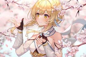 Rating: Safe Score: 77 Tags: aliasing blonde_hair cherry_blossoms close flowers genshin_impact gloves lumine_(genshin_impact) usamochi yellow_eyes User: BattlequeenYume