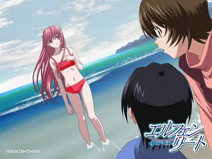 Rating: Safe Score: 12 Tags: beach bikini elfen_lied kouta lucy_(elfen_lied) navel swimsuit third-party_edit water yuka User: Kirby_Black