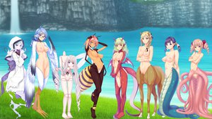 Rating: Explicit Score: 269 Tags: animal_ears bicolored_eyes blonde_hair blue_hair blush breasts censored doll glasses grass green_hair long_hair navel nipples pink_hair purple_hair red_eyes short_hair tattoo tentacles twintails water waterfall wings User: Dragoonxxx