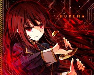 Rating: Safe Score: 21 Tags: akine_(kuroyuri) beatmania brown_hair cropped long_hair red_eyes sound_voltex sword weapon User: RyuZU