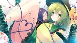 Rating: Safe Score: 40 Tags: blush bow bubbles gengetsu_chihiro green_eyes green_hair hat komeiji_koishi short_hair touhou underwater water User: RyuZU
