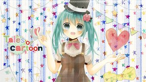 Rating: Safe Score: 48 Tags: aqua_eyes aqua_hair flowers hat hatsune_miku heart hinanosuke ribbons stars vocaloid User: HawthorneKitty