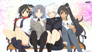 Rating: Questionable Score: 124 Tags: asuka_(senran_kagura) blue_eyes breasts homura_(senran_kagura) miyabi_(senran_kagura) seifuku senran_kagura tagme white_hair yumi_(senran_kagura) User: Mhand16