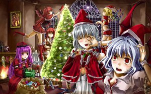 Rating: Safe Score: 22 Tags: blue_hair blush christmas dress fang flandre_scarlet hat hong_meiling izayoi_sakuya koakuma long_hair patchouli_knowledge purple_eyes purple_hair red_eyes red_hair remilia_scarlet ribbons skirt touhou white_hair User: Tensa