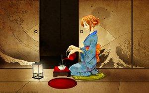 Rating: Safe Score: 38 Tags: japanese_clothes kimono nami one_piece orange_hair User: mikucchi