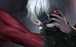 Rating: Safe Score: 52 Tags: cangkong kaneki_ken red_eyes tokyo_ghoul white_hair User: mattiasc02