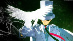 Rating: Safe Score: 8 Tags: all_male animal bird cape detective_conan hat kaitou_kid male suit tie User: Tensa
