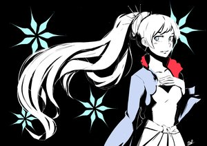 Rating: Safe Score: 15 Tags: aqua_eyes black long_hair polychromatic ponytail rwby signed tagme_(artist) weiss_schnee white_hair User: RyuZU