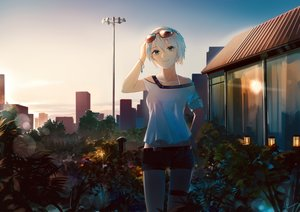 Rating: Safe Score: 67 Tags: flowers leiq shorts sunglasses vocaloid vocaloid_china yan_he User: FormX