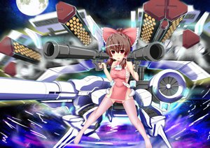 Rating: Safe Score: 75 Tags: chinese_clothes chinese_dress dress hakurei_reimu thighhighs touhou weapon zheyi_parker User: gnarf1975
