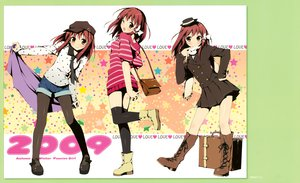 Rating: Safe Score: 58 Tags: kantoku pantyhose scan thighhighs wink User: Maho