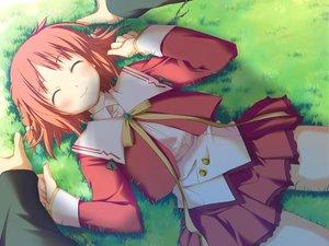 Rating: Safe Score: 12 Tags: amagahara_inaho favorite game_cg grass happy_margaret! kokonoka User: 秀悟