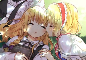 Rating: Questionable Score: 80 Tags: alice_margatroid blonde_hair blush hanabana_tsubomi kirisame_marisa kiss sleeping touhou yuri User: Wiresetc