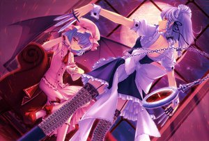 Rating: Safe Score: 122 Tags: couch dress izayoi_sakuya knife maid remilia_scarlet sayori scan thighhighs touhou vampire User: Wiresetc
