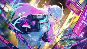 Rating: Safe Score: 107 Tags: aqua_eyes bell building city collar dress garter janyhero kagura_nana long_hair nanakagu_karatou_ch. night ribbons User: Nepcoheart