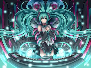 Rating: Safe Score: 43 Tags: aqua_eyes aqua_hair hatsune_miku instrument ko-ran piano thighhighs twintails vocaloid User: gnarf1975