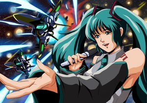 Rating: Safe Score: 5 Tags: hatsune_miku macross parody vocaloid User: qashairy