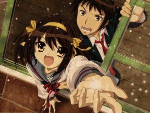 Rating: Safe Score: 168 Tags: bow brown_eyes brown_hair headband kyon male ribbons school_uniform short_hair snow suzumiya_haruhi suzumiya_haruhi_no_yuutsu tie User: Oyashiro-sama