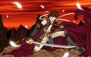Rating: Safe Score: 25 Tags: feathers katana sword syaoran tsubasa_reservoir_chronicle weapon User: mikucchi