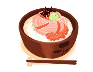 Rating: Safe Score: 18 Tags: animal bird chai_(artist) food nobody original polychromatic signed white User: otaku_emmy