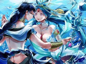 Rating: Safe Score: 74 Tags: breasts judal magi_the_labyrinth_of_magic ren_kougyoku sana423 underwater water User: FormX