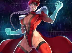 Rating: Safe Score: 17 Tags: armor braids breasts cape cleavage cropped elbow_gloves genderswap gloves gray_hair hat leotard long_hair m.bison ogami ponytail skintight space stars street_fighter thighhighs User: otaku_emmy