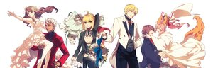 Rating: Safe Score: 70 Tags: animal_ears archer blonde_hair bow breasts brown_eyes brown_hair chibi cleavage dress fate/extra fate_(series) fate/stay_night flowers gilgamesh glasses green_eyes japanese_clothes kin_mokusei kishinami_hakuno male nero_claudius_(fate) pink_hair red_eyes tail tamamo_no_mae_(fate) tie wedding_attire white_hair User: C4R10Z123GT