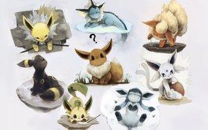 Rating: Safe Score: 213 Tags: eevee espeon flareon glaceon jolteon leafeon pashikiso pokemon umbreon vaporeon User: FormX