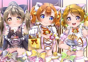 Rating: Safe Score: 25 Tags: animal_ears aqua_eyes bell blush bow breasts brown_eyes brown_hair cleavage koizumi_hanayo kousaka_honoka long_hair love_live!_school_idol_project minami_kotori navel panda_copt pink_eyes twintails valentine User: RyuZU