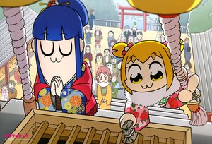 Rating: Safe Score: 14 Tags: blonde_hair blue_hair japanese_clothes kimono long_hair pipimi pop_team_epic popuko scan shrine umeki_aoi User: RyuZU