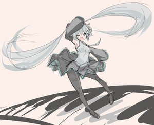 Rating: Safe Score: 78 Tags: hatsune_miku mikuma pantyhose piano sketch twintails vocaloid wink User: FormX