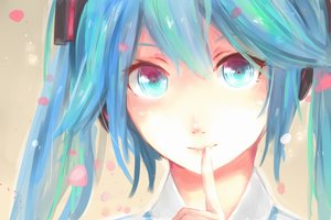 Rating: Safe Score: 108 Tags: aqua_eyes aqua_hair close hatsune_miku long_hair suppakarn_prakobkij_(soompook2122) twintails vocaloid User: luckyluna