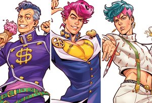 Rating: Safe Score: 22 Tags: all_male aqua_hair brain.curry brown_eyes food gray_eyes gray_hair green_eyes higashikata_josuke ice_cream jojo_no_kimyou_na_bouken kishibe_rohan male navel nijimura_okuyasu pink_hair realistic short_hair waifu2x User: otaku_emmy