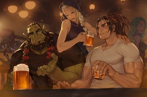 Rating: Safe Score: 33 Tags: black_hair blonde_hair blue_eyes braids brown_hair cigarette drink glasses green_hair group hoodie long_hair male morry_evans pointed_ears ponytail red_eyes scar signed smoking twintails wink world_of_warcraft User: otaku_emmy