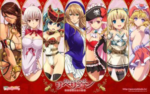 Rating: Questionable Score: 127 Tags: aldora bicolored_eyes branwen captain_liliana cleavage eirin hat huit laila mirim queen's_blade sideboob siggy vingt User: Wiresetc