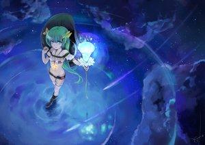 Rating: Safe Score: 144 Tags: aqua_eyes aqua_hair clouds flowers night original signed stars water yuugen User: Maboroshi