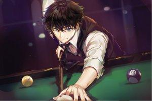 Rating: Safe Score: 33 Tags: all_male black_hair blue_eyes joypyonn kuroba_kaitou magic_kaito male short_hair suit tie waifu2x User: otaku_emmy