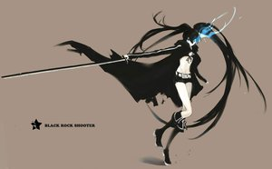 Rating: Safe Score: 72 Tags: black_hair black_rock_shooter boots fire jpeg_artifacts kuroi_mato long_hair sword twintails weapon User: Katsumi