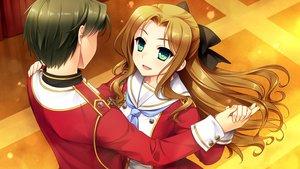 Rating: Safe Score: 39 Tags: akatsuki-works game_cg hello_lady! kabutoyama_mitori male narita_shinri saeki_hokuto User: Maboroshi