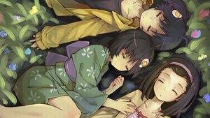 Rating: Safe Score: 127 Tags: araragi_karen araragi_tsukihi bakemonogatari hei_yan-m82a1 monogatari_(series) nisemonogatari sengoku_nadeko sleeping User: Wiresetc