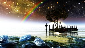 Rating: Safe Score: 145 Tags: 3d boat landscape nobody original rainbow scenic sky stars tree water y-k User: STORM