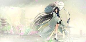 Rating: Safe Score: 138 Tags: black_hair japanese_clothes kikivi long_hair original socks umbrella User: Flandre93