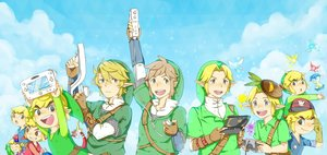 Rating: Safe Score: 16 Tags: all_male aqua_eyes blonde_hair boat brown_hair fairy game_console gloves guppy-kurisutaru hat king_of_red_lions link_(zelda) male navi pointed_ears tael tatl the_legend_of_zelda User: otaku_emmy