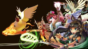 Rating: Safe Score: 55 Tags: abazu-red animal_ears barefoot bastet_(p&d) black_hair blonde_hair blue_eyes braids catgirl choker echidna_(p&d) fire green_eyes green_hair group headdress heart king_shynee_(p&d) long_hair magic navel puzzle_&_dragons red_eyes red_hair signed sword tiara valkyrie_(p&d) venus_(p&d) weapon wings wristwear User: minabiStrikesAgain
