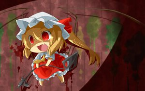 Rating: Safe Score: 71 Tags: blonde_hair blood bow chibi fang flandre_scarlet haipa_okara hat red_eyes short_hair tie touhou vampire wings User: PAIIS