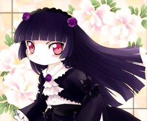 Rating: Safe Score: 29 Tags: black_hair dress flowers gokou_ruri lolita_fashion long_hair ore_no_imouto_ga_konna_ni_kawaii_wake_ga_nai red_eyes yume_shokunin User: PAIIS